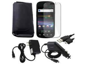 compatible with Samsung© Google Nexus S Black Case+Film+Chargers+USB