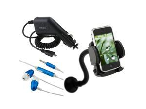 Car Mount Holder+Charger+Headphone compatible with HTC T-Mobile G2