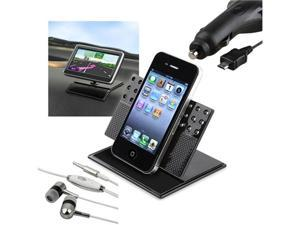Car Charger+Car Holder+Headset compatible with Samsung© Droid Charge