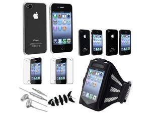 Sport Lover Combo Armband+Headset+Smart Wrap+Anti Glare Film compatible with iPhone 4 4S 4GS