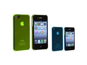 Yellow+Blue Slim Hard Clip-on Case Cover Compatible With iPhone® 4 G 4S Verizon Sprint AT&T