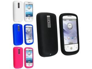 4 Case Set Black+Clear White+Dark Blue+Hot Pink Silicone Skin For HTC Magic Sale