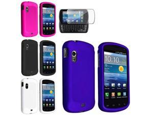 Blue+Pink+Black+White 4 Rubber Hard Case+SP Film compatible with Samsung© Stratosphere i405
