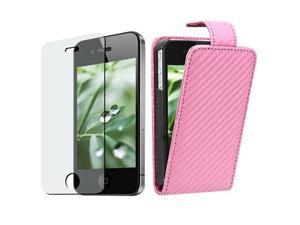 Insten Pink Carbon Fiber Cell Phone - Case & Covers