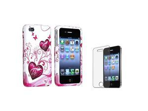Insten Pink and White Playful Cell Phone - Case & Covers