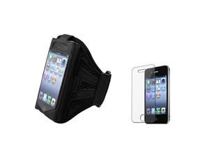 Armband Sportband Black Skin Case Cover+LCD Film Pro Compatible With iPhone® 4 4S
