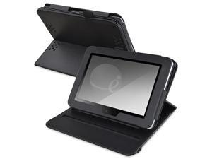 eForCity 360-degree Swivel Leather Case Compatible With Amazon Kindle Fire HD 7-inch, Black