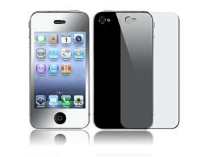 eForCity Front Mirror / Back Transparent LCD Screen Cover Compatible With iPhone Os 4 G 4th