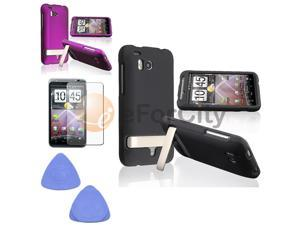 For HTC ThunderBolt 4G Black+Purple Case+Tool+Film New