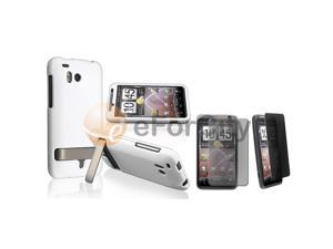 White Hard Case+Privacy LCD Pro compatible with HTC ThunderBolt 4G