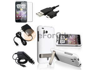 White Case+SP+2 Charger+USB Data compatible with HTC ThunderBolt 4G