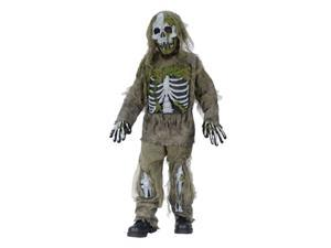 Skeleton Zombie Child Costume Size 8-10