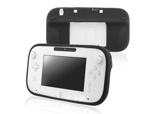 eForCity Silicone Skin Case Compatible With Nintendo Wii U, Black