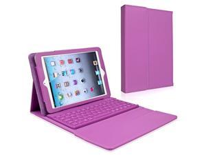 eForCity Leather Case Stand with Bluetooth Keyboard For Apple® iPad Mini/ Mini with Retina, Purple