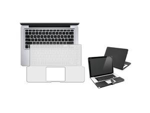 """eForCity Black Flip Leather Case + FREE Clear 13.3"""" Keyboard Full Skin Shield Compatible With Apple® Macbook Pro 13 Inch"""