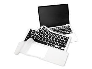 """13.3"""" Keyboard Full Skin Shield compatible with Apple® Macbook Pro 13 inch, Clear / Black"""