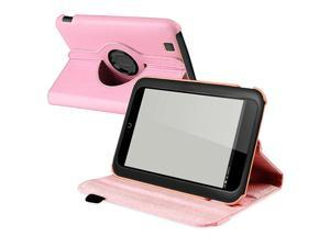 eForCity 360-degree Swivel Leather Case Compatible with Barnes & Noble Nook HD, Light Pink
