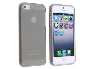 eForCity TPU Case for Apple iPhone 5 (Frost Clear Smoke)