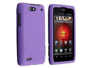 Snap-on Rubber Coated Case compatible with Motorola Droid 4 XT894, Purple