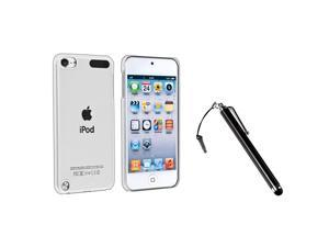 eForCity Black Touch Screen Stylus + Clear Rear Snap-on Crystal Case Bundle Compatible With Apple® iPod Touch 5th Generation