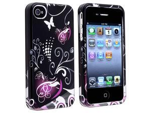 Apple iPhone 4/4S Clip-on Case , Black/Purple Heart
