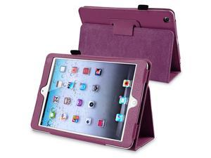 eForCity Leather Case Cover with Stand Compatible with Apple iPad Mini / iPad mini with Retina display (iPad Mini 2), Purple