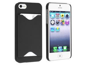 eForCity ID Business Credit Card Holder Hard Case Back Cover For Apple® iPhone 5/5S Black