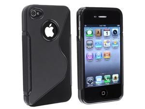 Apple AT/VER iPhone 4 TPU Case , Black S Shape