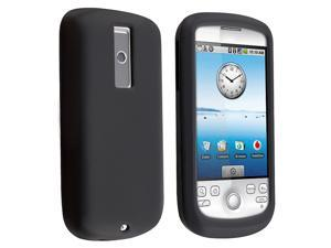 Silicone Skin Case compatible with HTC Google G2 / T-Mobile G2 / Sapphire - Black