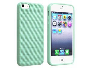 Apple iPhone 5 TPU Case , Mint Green Diamond