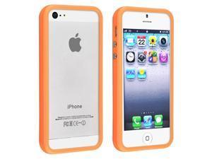 Apple iPhone 5 Bumper TPU Case w/ Alum Button , Orange