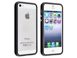 Apple iPhone 5 Bumper TPU Case w/ Alum Button , Black