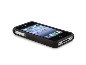 INSTEN Silver Triangle Aluminum Snap-on Case Compatible with Apple® iPhone® 4 / 4S