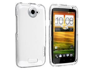 Snap-on Crystal Case compatible with HTC One X, Clear