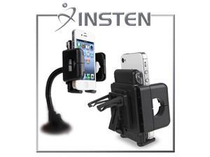 eForCity Windshield Phone Holder Compatible with Samsung© Galaxy S IV / S4/ I9500/ I9505, Black