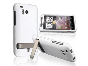 1 White Rubberized Hard Case Cover compatible with HTC Thunderbolt