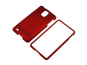 Red Rubber Hard Cover Case compatible with Samsung© Infuse 4G i997