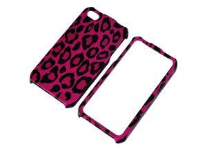 Insten Snap-on Case for Apple iPhone 4 AT&T / Verizon / iPhone 4S, Hot Pink Leopard