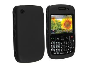 Crystal Hard Rubberized Black Cover Case compatible with RIM BlackBerry Curve 9300 9330 8530 8520 T-Mobile