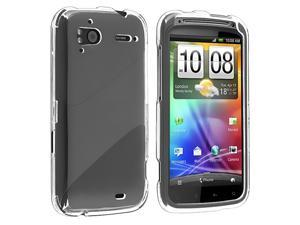 Snap-on Crystal Case compatible with HTC Sensation 4G, Clear