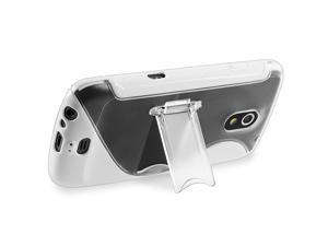 TPU Rubber Skin Case with Stand compatible with Samsung© Galaxy Nexus i9250, White S Shape