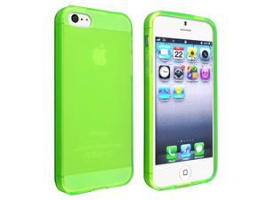 eForCity iPhone 5 / 5S  Case Cover - TPU Case For Apple iPhone 5 / 5S , Frost Clear Green