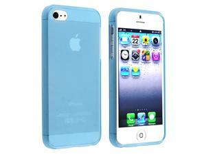 eForCity iPhone 5 / 5S  Case Cover - TPU Case For Apple iPhone 5 / 5S , Frost Clear Light Blue