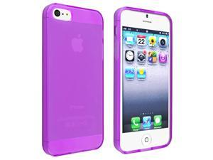 eForCity iPhone 5 / 5S  Case Cover - TPU Case For Apple iPhone 5 / 5S , Frost Clear Purple