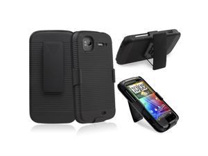 Holster with Stand compatible with HTC Sensation 4G, Black