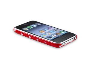 Snap-on Case compatible with Apple® iPhone® 3G / 3GS, Red with White Dot