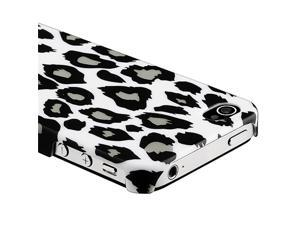 Snap-on Case compatible with Apple® iPhone® 4 AT&T/ Verizon, Gray Leopard Rear