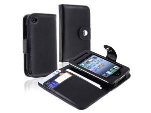 eForCity Compatible With Apple® iPhone 3G Wallet Leather Case Holster