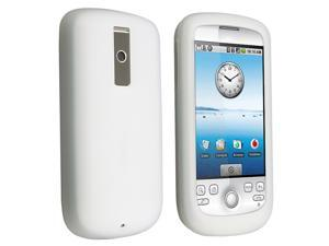 Silicone Skin Case compatible with HTC Google G2 / T-Mobile G2 / Sapphire - Clear White