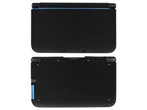 eForCity Carbon Fiber Decal Sticker Compatible with Nintendo 3DS XL, Black